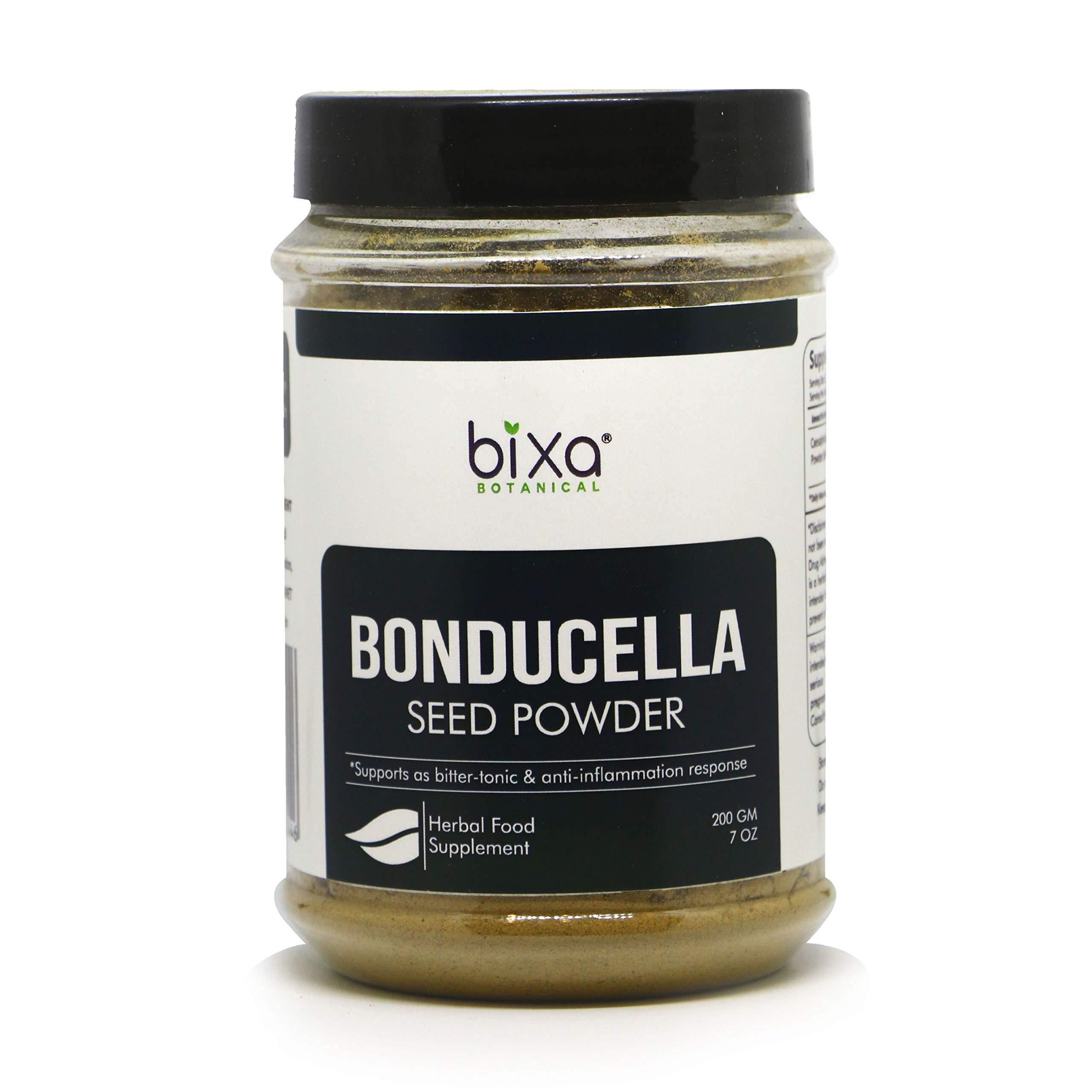 Bonducella Seed Powder (Sagargota/Caesalpinia Bonduc), Supports as Bitter-Tonic & antiinflammation Response by Bixa Botanical - 7 Oz (200g)