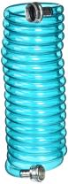 Plastair SpringHose PUW615B9-M-3OT-AMZ Light Polyurethane Lead Free Drinking Water Safe Marine/RV Recoil Hose, Blue Translucent, 3/8-Inch by 15-Foot