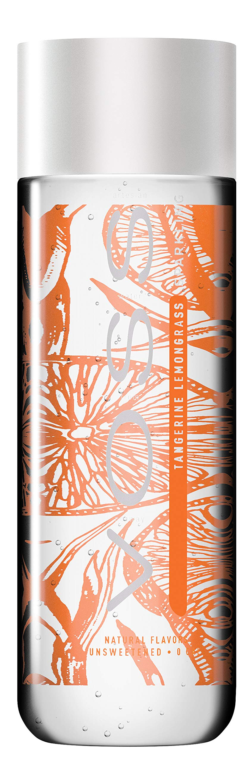 Voss  Artesian Sparkling Water, Tangerine Lemongrass, 330 ml Plastic Bottles (12 Count)