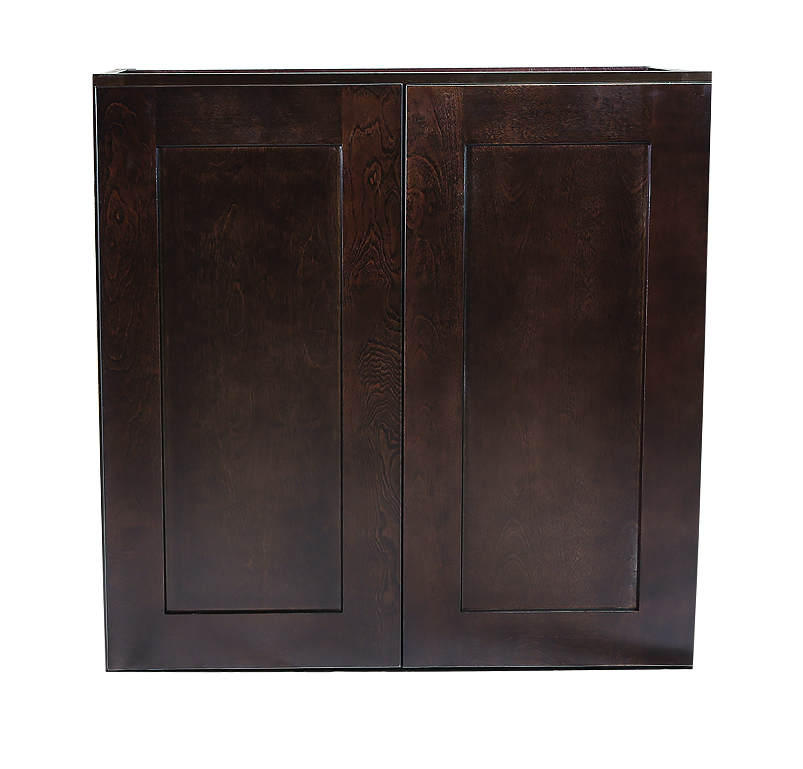 "Design House Brookings 27"" Fully Assembled Kitchen Wall Cabinet, Espresso Shaker"