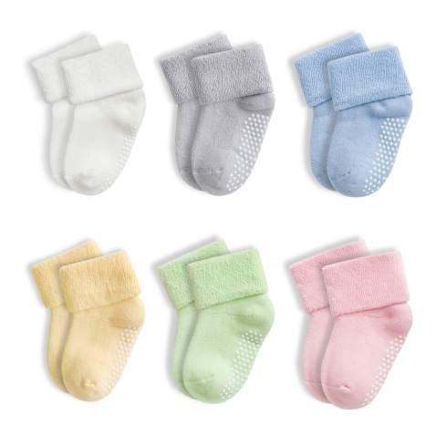 Baby Socks, Fowateda 6 Pairs Toddler Socks for Newborn Infants Toddlers 0-4 Years Old
