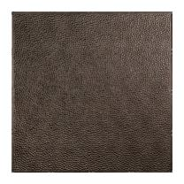 FASÄDE - Easy Installation Border Fill Smoked Pewter Lay in Ceiling Tile/Ceiling Panel (2' x 2' Tile)