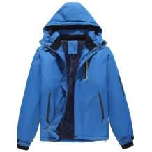 KORAMAN Men's Mountain Winter Ski Jacket Waterproof Windproof Fleece Snow Coat with Hood