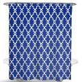 "Dimaka Blue Shower Curtain, Bathroom Decoration Design Decor ,Geometric Patterned Water Resistant Fabric Shower Curtain, Home Textile(71""x 71"",Sapphire)"