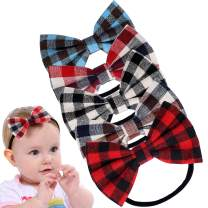 5 PCS Baby Girl Headbands Nylon Hairbands Hair Bow Elastics for Infant Toddlers Photography Prop