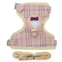 XPangle Cat Harness and Leash Set, Adjustable Kitten Halter Harness Escape Proof Mesh for Kitty Puppy Rabbit