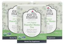 Earth Mama Organic Peaceful Mama Tea Bags for Pregnancy and Beyond, 16-Count (3-Pack)