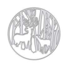 GLOBLELAND Hollow Metal Cutting Dies Christmas Reindeer Cutting Dies for DIY Making Paper Card Craft Decoration Supplies, Matte Platinum