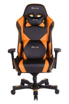 Clutch Chairz - Ergonomic Gaming Chair, Video Game Chairs, Office Chair, High Chair and Lumbar Pillow for Computer Desk - Black/Orange - Throttle Series