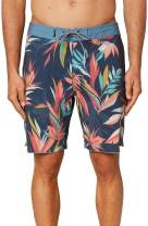 O'NEILL Men's Water Resistant Stretch Volley Swim Boardshort, 19 Inch Outseam | Mid-Length Swimsuit |