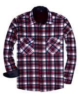 Alimens & Gentle Men's Fleece Lined Plaid Flannel Shirt Jacket