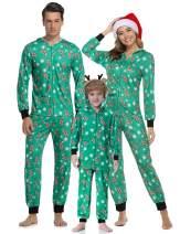 Hawiton Family Xmas Pajamas Set Matching Christmas Cute Deer Hat Sleepwear for Dad Mom Kids