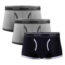 Separatec Men's Underwear Colorful Comfortable Soft Cotton Stretch Trunks 3 Pack