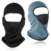 Balaclava Ski Mask, 2 Piece Breathable Windproof Thermal Face Mask Sun Hood