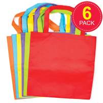 Baker Ross Coloured Fabric Tote Bags, Canvas Bag for Kids to Personalise and Paint Your Own in Kids Arts and Crafts (Pack of 6)
