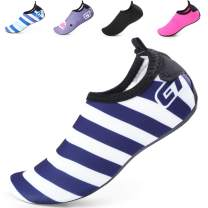BETTERLINE Kids Water Shoes for Girls & Boys. Quick-Dry Beach Shoes with Removable Insoles