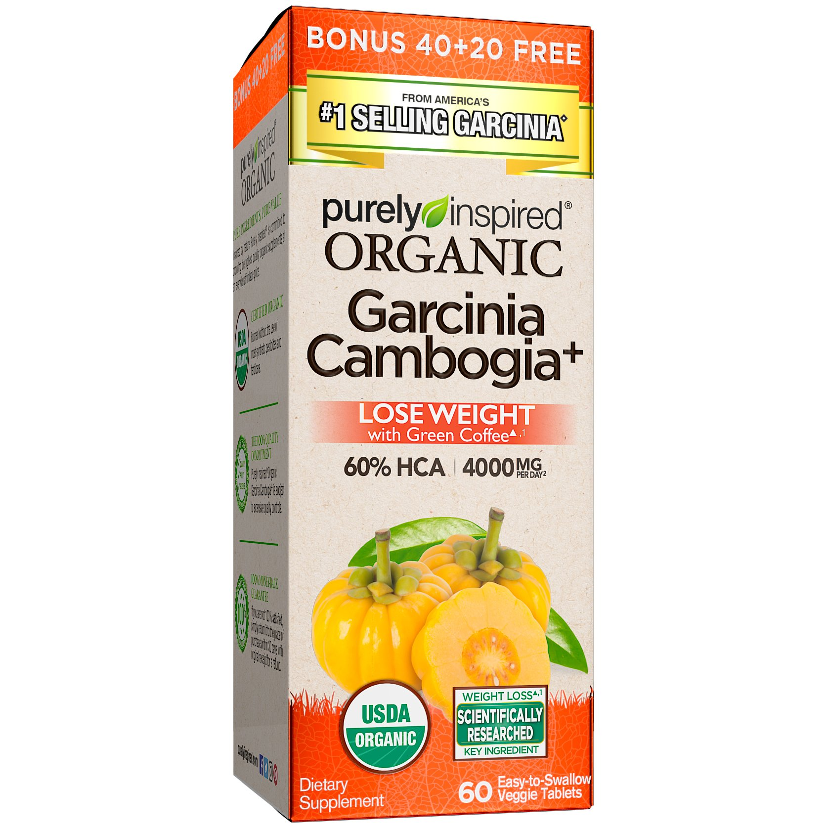 Purely Inspired, Organic Garcinia, 60 Count