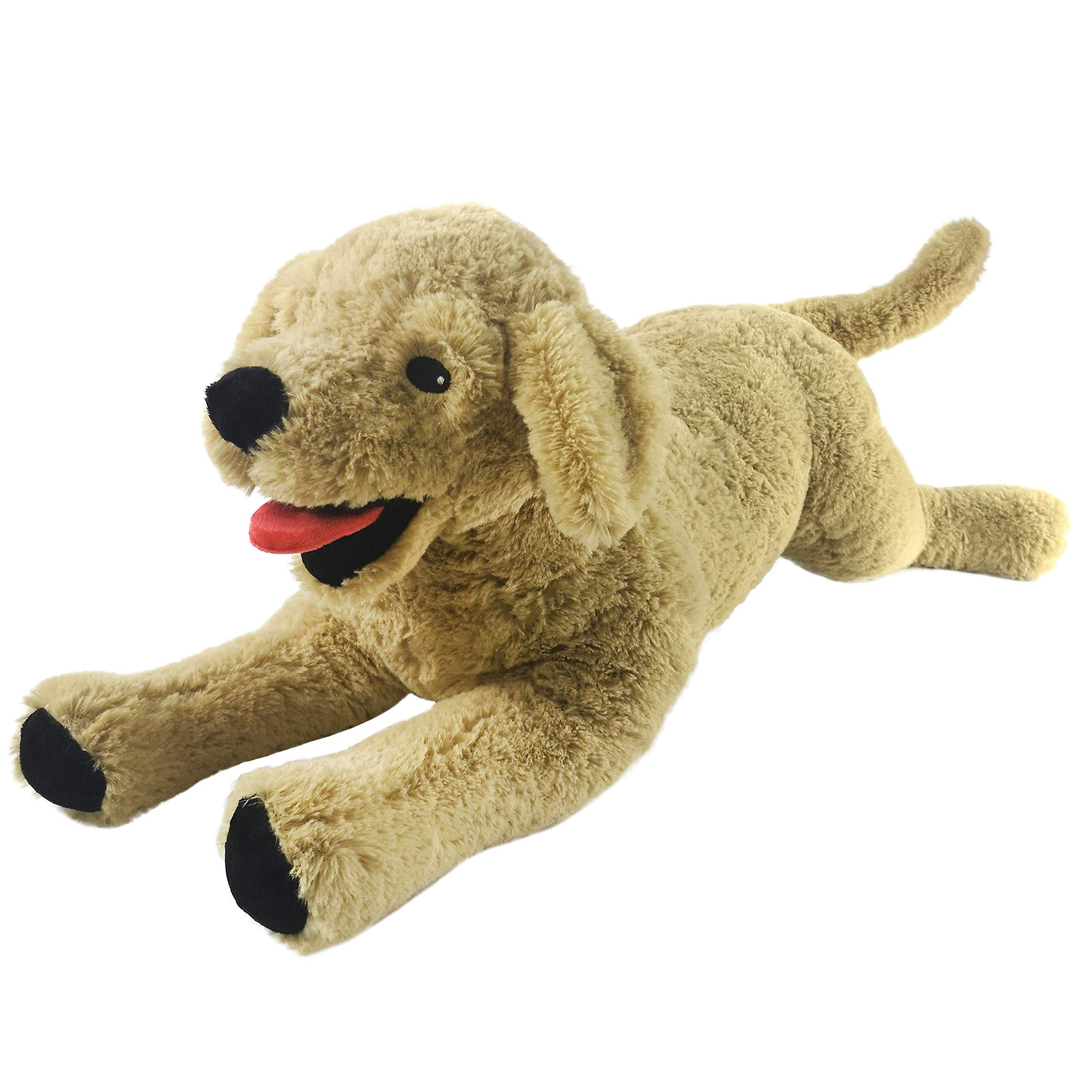 Houwsbaby Large Plush Golden Retriever Stuffed Puppy Pillow Pet Soft Dog Floppy Puppy Toy Cuddly Gift for Kids Boys Girls Birthday, Brown, 21''