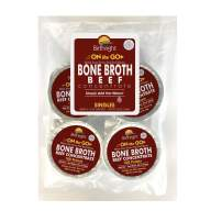 Birthright Beef Bone Broth Concentrate - Organic Grass Fed,18 Grams of Protein - 4 Single Cup Servings