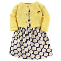 Hudson Baby Girl Cotton Cardigan and Dress