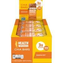 HEALTH WARRIOR Chia Bars, Banana Nut, Gluten Free, Vegan, 25g bars, 15 Count