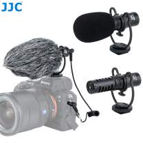 JJC SGM-V1 Shotgun Video Microphone, Cardioid Microphone Condenser Mic Vdeomicro w/Shock Mount, Furry Foam Windscreen, Electret Condenser, 3.5mm TRS TRRS Cable, for Andoid Phone DSLR Camcorder