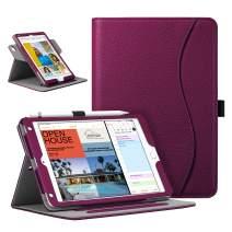 Fintie Case for iPad Mini 5 2019 / iPad Mini 4, 360 Degree Rotating Stand Cover w/Pocket, Pencil Holder, Auto Sleep/Wake for New iPad Mini 5 / Mini 4, Purple