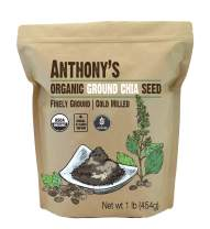 Anthony's Organic Ground Chia Seed, 1 lb, Finely Ground, Cold Milled, Gluten Free, Non GMO