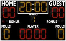 """Varsity Scoreboards Permanent 8' x 5' x 8"""" Basketball Scoreboard Model 2246"""