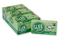 Glee Gum All Natural Spearmint Gum, Non GMO Project Verified, Eco Friendly, 16 Piece Box, Pack of 12