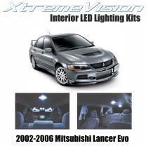 Xtremevision Interior LED for Mitsubishi Lancer Evolution 2002-2006 (4 Pieces) Cool White Interior LED Kit + Installation Tool
