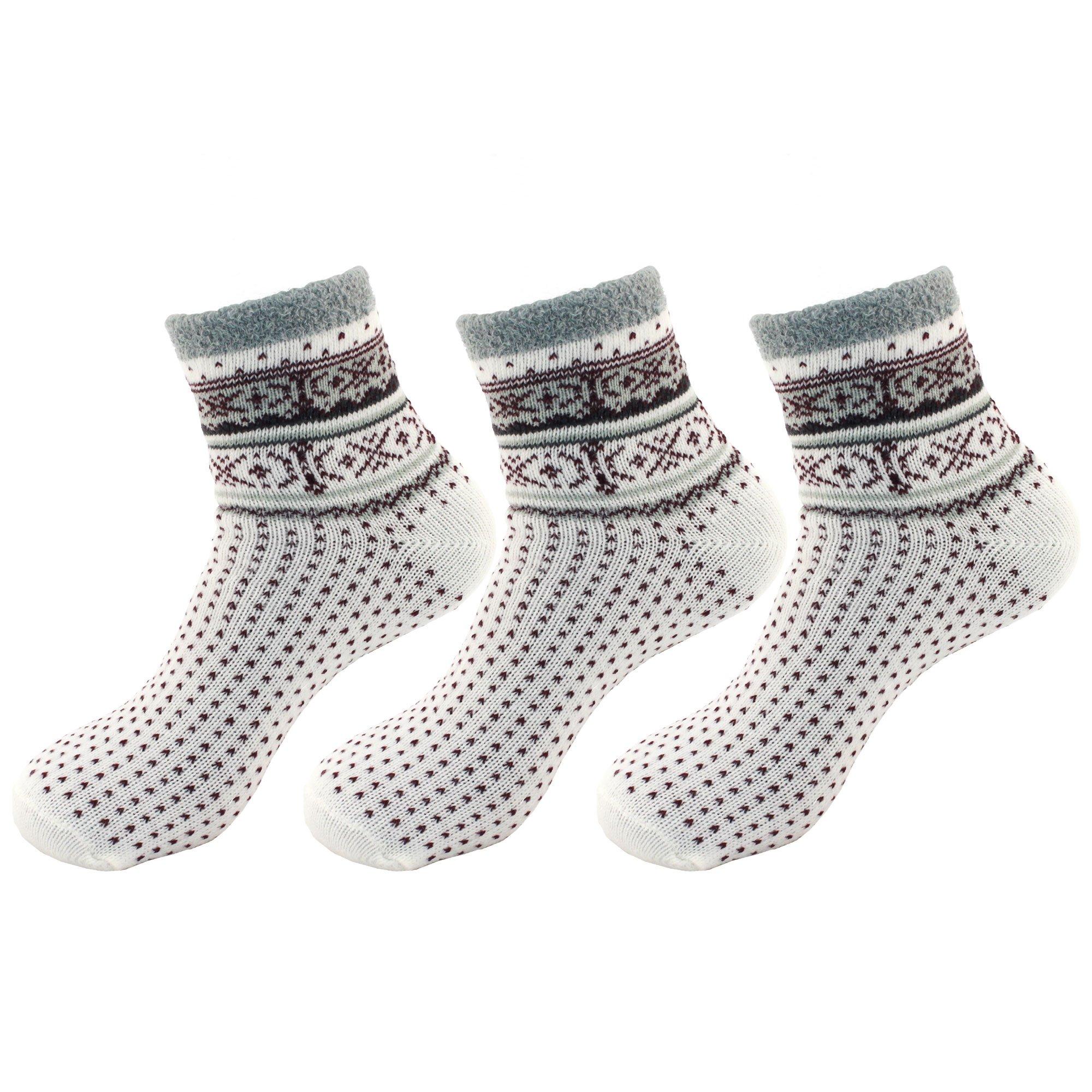 BambooMN Women's Super Soft Warm Cozy Fuzzy Socks Assortments