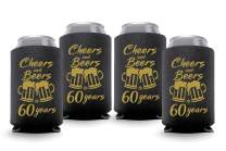 Coolies Can Coolers Collapsible Beer Soft Drinks Bottle Soda Slim Sleeves Durable Insulators Premium Quality for Birthday Parties 60 C&B Black Set of 6