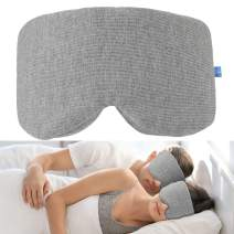 VOLUEX Enlarged Sleep Mask Men Women Sleeping Mask 100% Shading Super Soft Eye Mask Blindfold - Grey