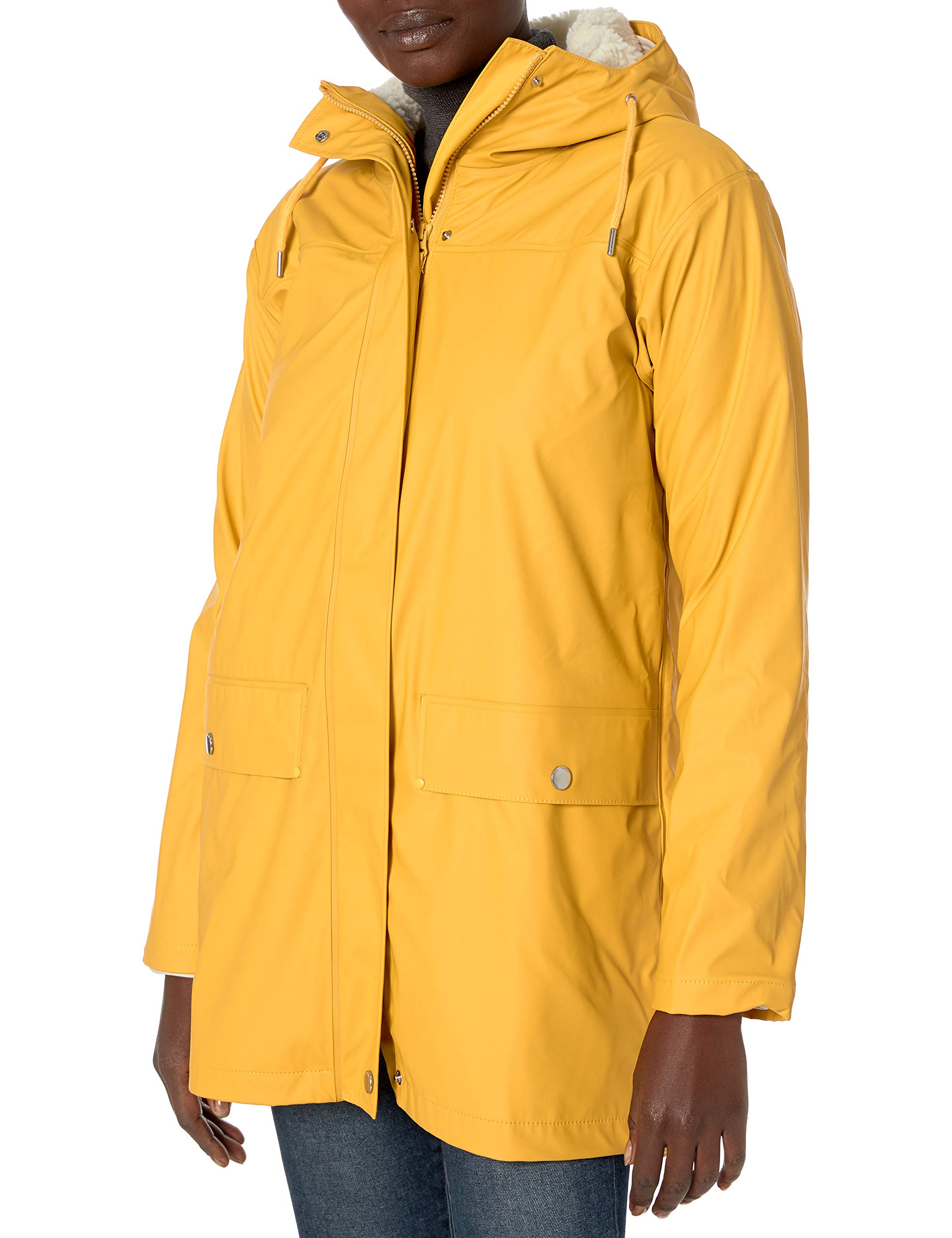Helly-Hansen womens Moss Hooded Insulated Fully Waterproof Windproof Raincoat Jacket With Removable Warm Pile Liner