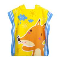 "Kids Hooded Beach Bath Towel for Age 2-7 Years - Swim Pool Coverup Poncho Cape Multi-use for Bath/Shower/Pool/Swim 24"" x 48""(Little Fox)"