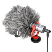 Video Microphone, Mouriv Shotgun Microphone YouTube Vlogging Facebook Recording Shotgun Mic Compatible with iPhone/Android Smartphones, Canon EOS/Nikon DSLR Cameras and Camcorders for ZHIYUN Smooth 4