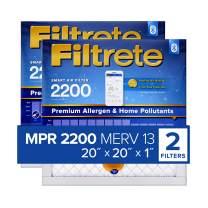 Filtrete 20x20x1 Smart Replenishable AC Furnace Air Filter, MPR 2200, Premium Allergen & Home Pollutants, 2-Pack
