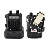 Turtleback Case Made for Motorola Minitor VI (6) Voice Pager Fire Radio Two-Tone Voice Pager Radio Black Leather Fitted Case with Heavy Duty Metal Ratcheting Removable Metal Belt Clip