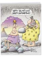 Cave Valentines' Funny Valentine's Day Greeting Card with Envelope Jumbo 8.5 x 11 Inch - Cave Man and Woman, Big Rock Gift, Not a Diamond - Stationery for Happy V-Day Gift, Love Letter J2212VDG