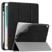 Infiland Apple iPad Air (3rd Gen) 10.5 Inch 2019 / iPad Pro 10.5 2017 TPU Smart Case Cover with Pencil Holder (Auto Wake/Sleep), Black