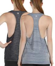 Melpoint Workout Yoga Tops for Women - Activewear Running Athletic Racerback Tank Top, Gym Exercise Shirts