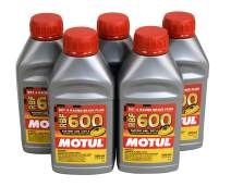 Motul (5 Pack) 100949 8068HL RBF 600 Factory Line Dot-4 100 Percent Synthetic Racing Brake Fluid - 500 ml