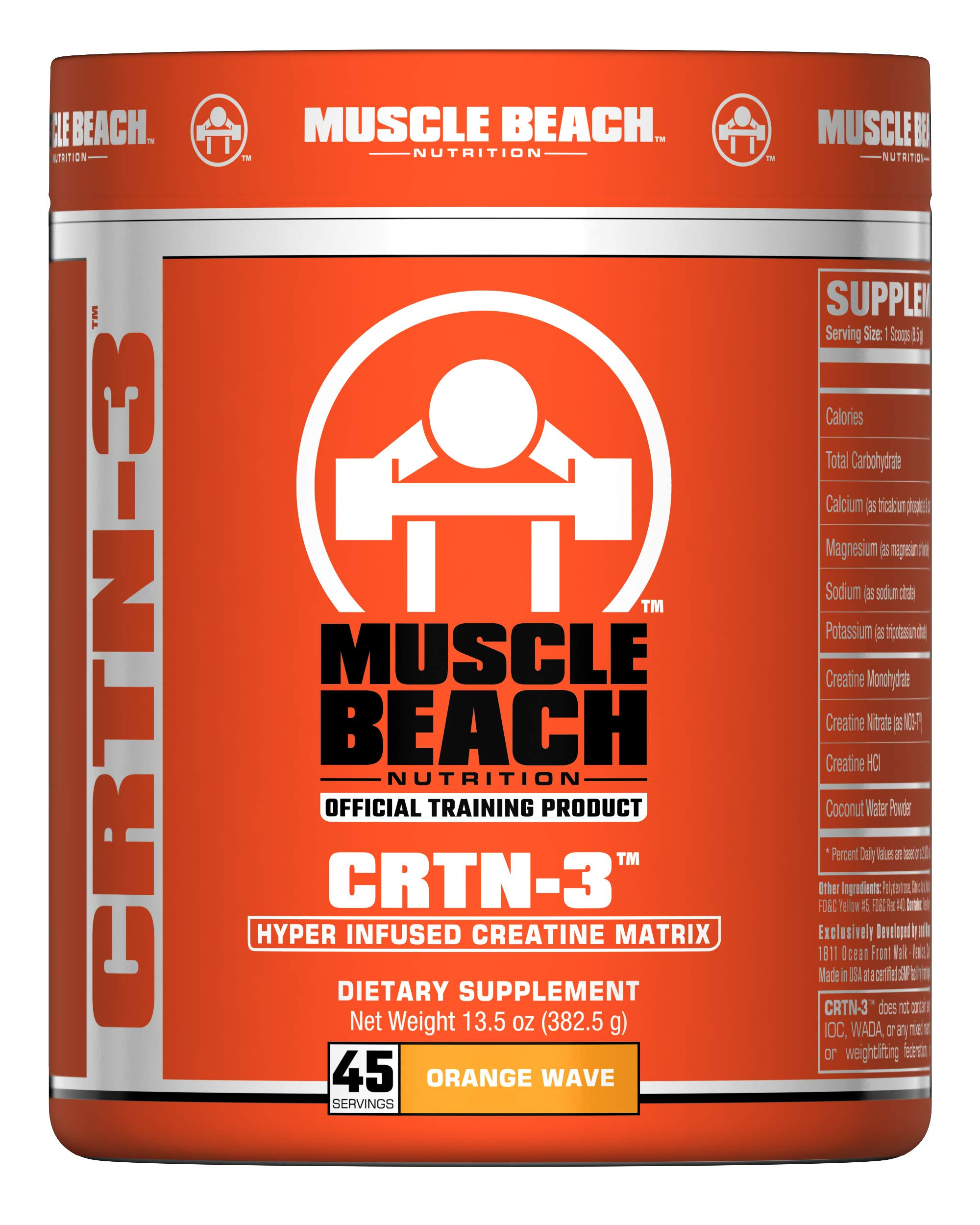 Muscle Beach Nutrition CRTN-3 45 Servings (Orange Wave)
