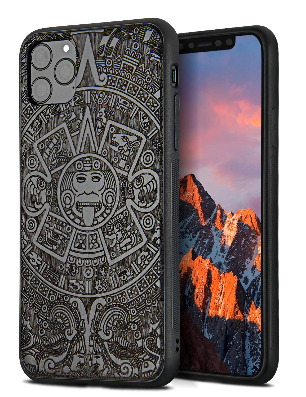 YFWOOD Compatible for iPhone 11 Pro Case 5.8 inch, Unique Wood Shockproof Drop Proof Bumper Protection Cover for iPhone 11 Pro (Totem)