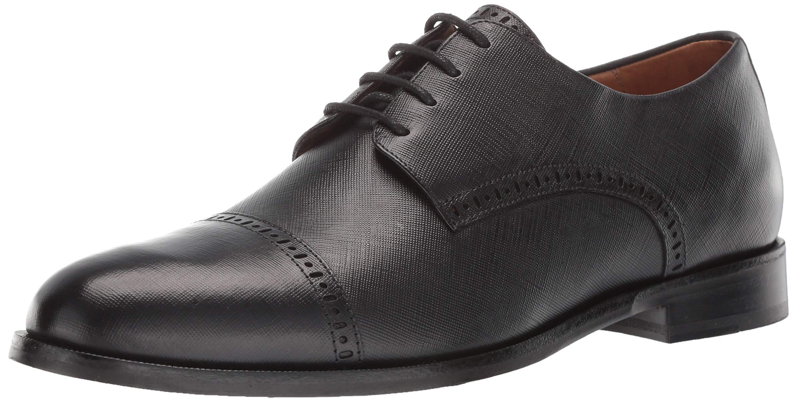 MARC JOSEPH NEW YORK Men's Leather Oxford Lace-up Dress Shoe