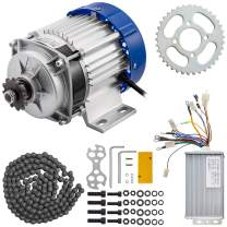 BestEquip Brushless Motor 500W 48V Electric Tricycle Motor 600RPM 13A Go Kart Electric Motor with Speed Controller and Sprocket Chain for DIY Tricycle E-Bikes E-Scooters