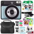 Fujifilm instax Square SQ6 Instant Film Camera (Aqua Blue) + 40 Sheet Square Instant Film + Deluxe Bundle (USA Warrantty)