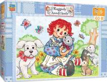 MasterPieces The Right Fit Kids Raggedy Ann & Andy Jigsaw Puzzle, Best Friends, Tillywig Top Fun Award, 60 Piece, For Age 5+