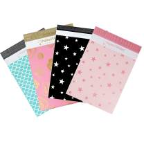 Inspired Mailers - Poly Mailers 10x13 Deluxe Variety Pack of 40-10 Each: Rose Gold Stars, Silver Stars, Mermaid Scales, Gold Roses (10x13, 40 Pack)